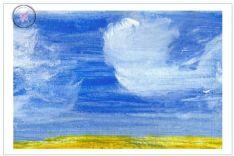 Art Greeting Card - Clouds 1